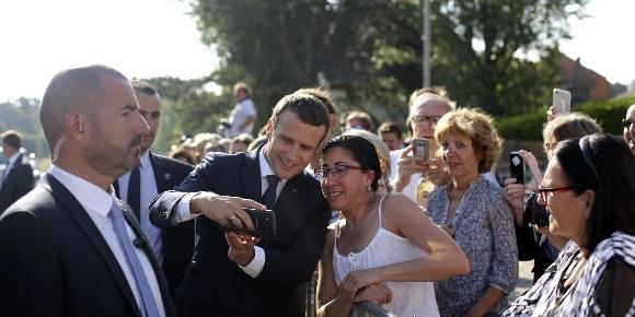 Emmanuel Macron, au Touquet, le 18 juin - ©Thibault Camus / AP