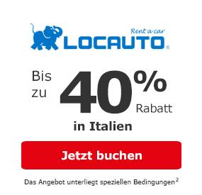 Locauto in Italien: Bis zu 10% Rabatt