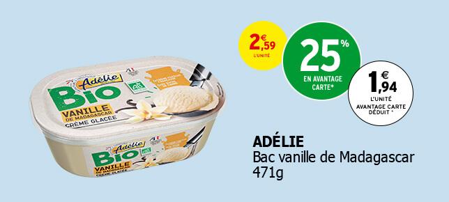 Bac vanille de Madagascar 471g. ADÉLIE.