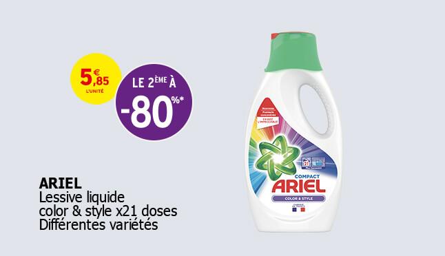 Lessive liquide color & style x21 doses. Différentes variétés.