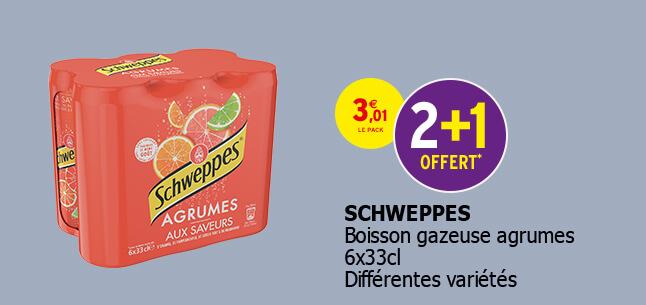 Boisson gazeuse agrumes 6x33cl. Différentes variétés.