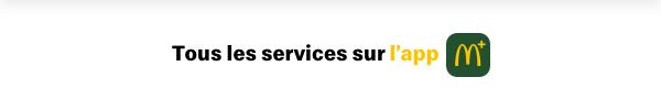 Tous les services sur l'app