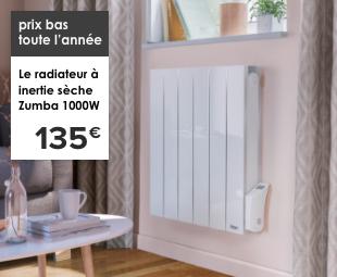 prix bas toute l'année Le radiateur à inertie sèche Zumba 1000W 135€