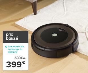 Prix baissé lancement du nettoyage à distance : application iRobot Home 399€ à la place de 599.99€