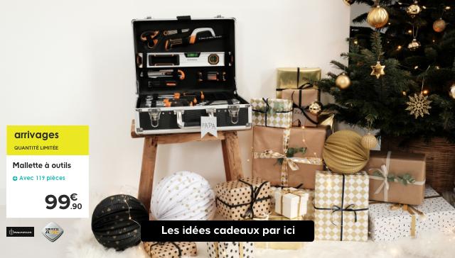 Arrivages quantité limitée  Mallette à outils avec 119 pièces 99.90€  Les idées cadeaux par ici