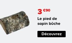 3.90€ Le pied de sapin bûche Découvrez