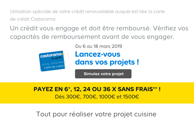 Carte Castorama Dimanche 15.Castorama Un Projet Cuisine Cet Email Est Pour Vous
