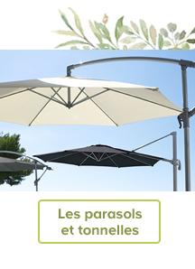 Les parasols et tonnelles