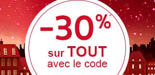 -30% sur tout avec le code