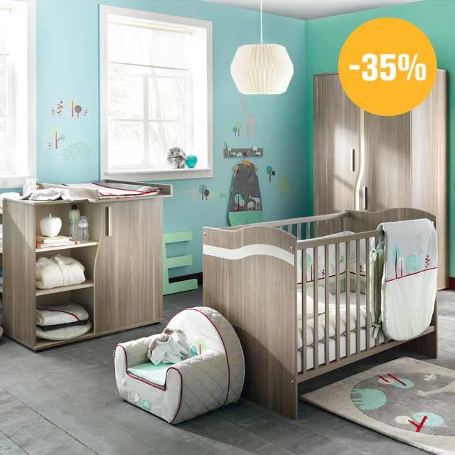 aubert soldes jusqu 39 50 sur la chambre de b b. Black Bedroom Furniture Sets. Home Design Ideas