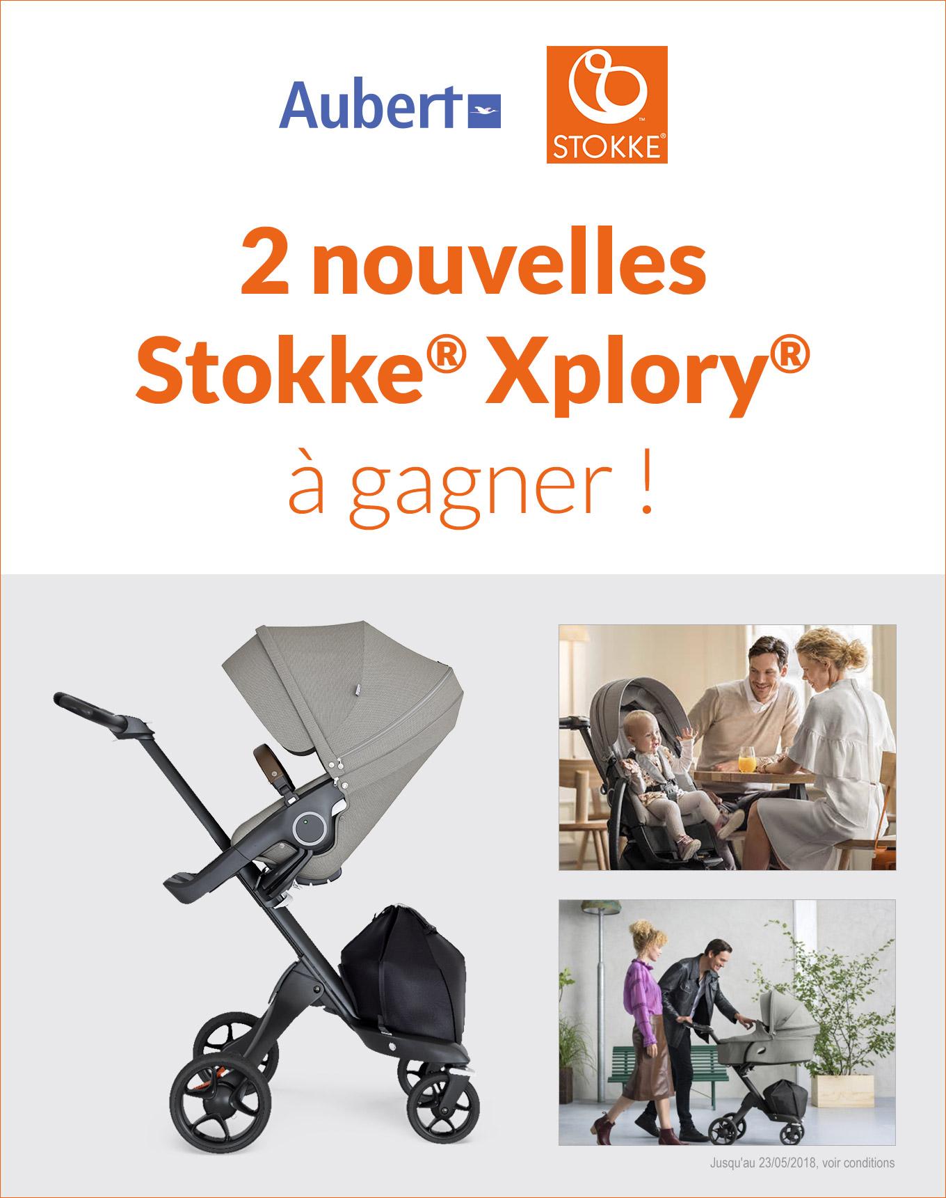 2 nouvelles Stokke® Xplory® gagner ! Jusqu'au 23/05/2018, voir conditions