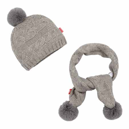 Bonnet pompon + écharpe collection Amsterdam Forever Fille de Nano & nanette