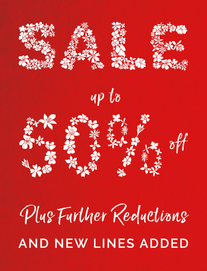 Enjoy up to 50% off with further reductions, Shop Now