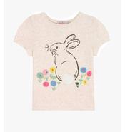Bunny Meadow Kids Short Sleeve Bunny Tshirt