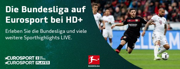 Bundesliga live und exklusiv im Eurosport-Paket bei HD+