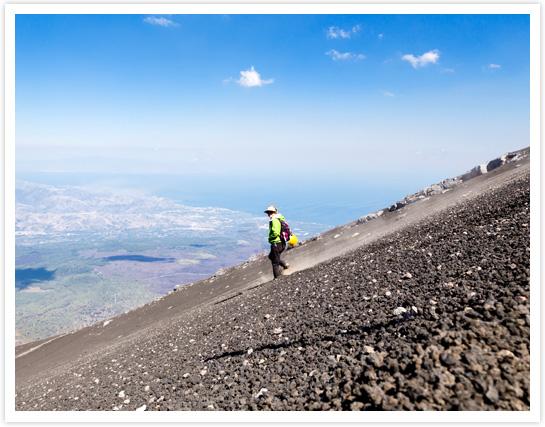Descente du volcan Etna © MaRabelo avec Terres d'Aventure