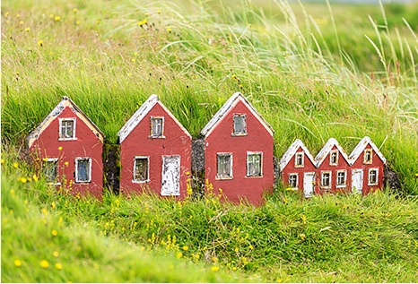 Maison d'elfes en Islande