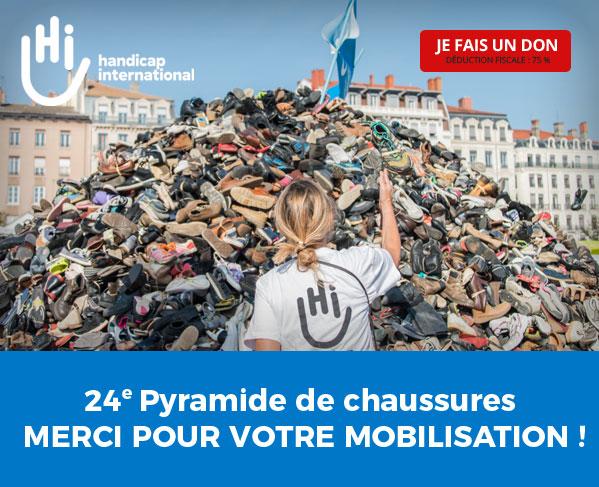 24ème Pyramide de chaussures - MERCI POUR VOTRE MOBILISATION