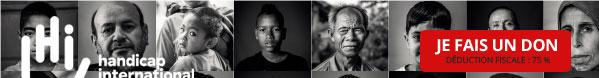 HANDICAP INTERNATIONAL - 90 portraits réaliséé par le photographe JR