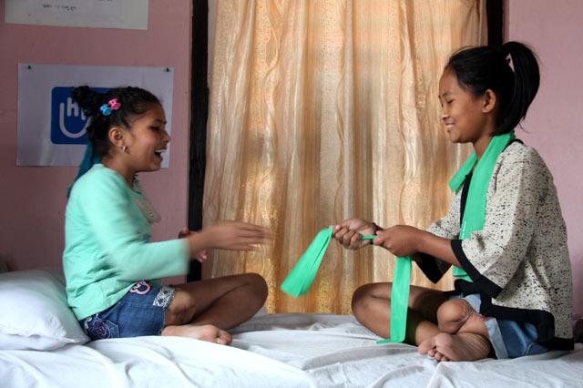 Jeunes filles népalaises