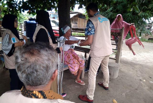 Rééducation d'une blessée suite au séisme