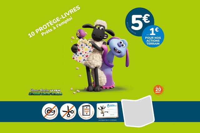 Couverture du Kit protège-livres Shaun le Mouton
