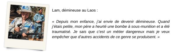 Témoignage de Lam, démineuse au Laos
