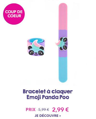 Bracelet à claquer Emoji Panda Poo