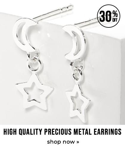 High quality precious metal earrings