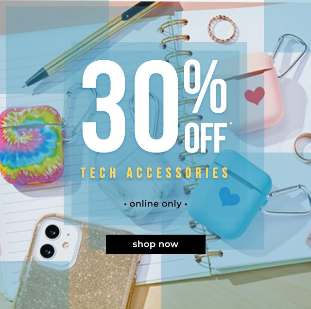 30% OFF* Tech Accessories