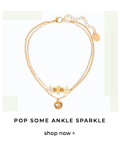 Pop some ankle sparkle