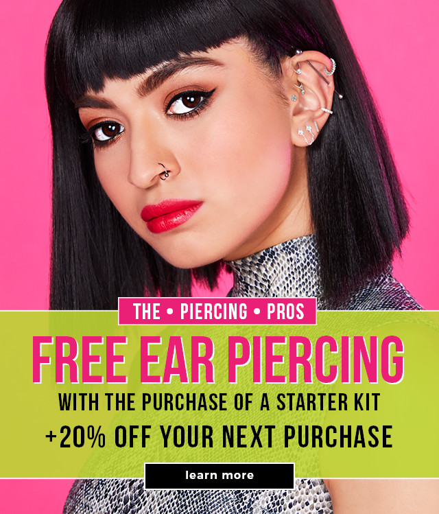 FREE Ear Piercing with the purchase of a starter kit