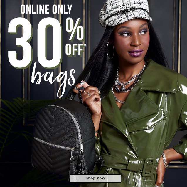 ONLINE ONLY  30% OFF* Bags