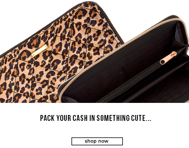 Pack your cash in something cute...