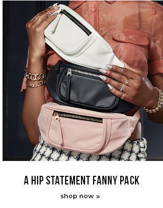 A hip statement fanny pack