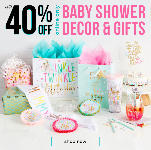 Up To 40% OFF* Baby Shower Decor & Gifts