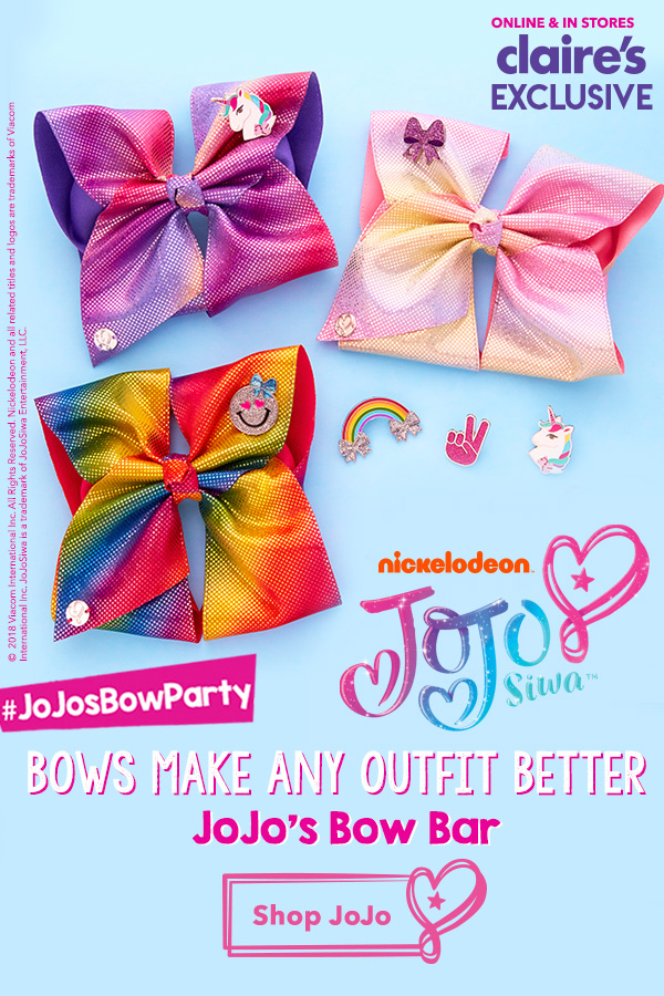 new jojo s bow bar create your own bow today claire s email archive