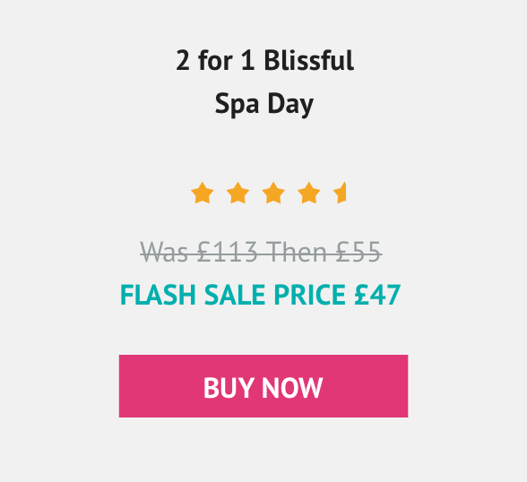2 for 1 Ultimate Spa day with 3 Treatments and Afternoon Tea at Schmoo Spa £101.25