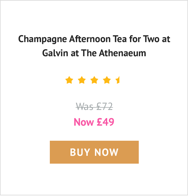 Champagne Afternoon Tea for Two at Galvin at The Athenaeum - Was £72 now £49