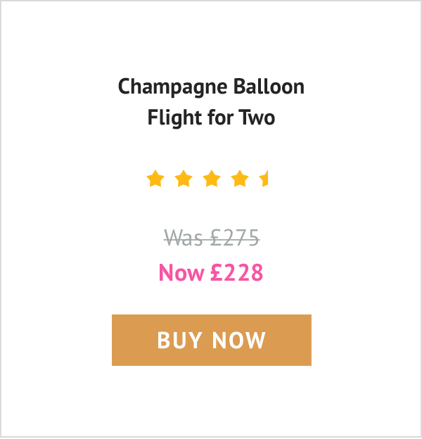 Champagne Balloon Flight for Two - Was £275, now £228