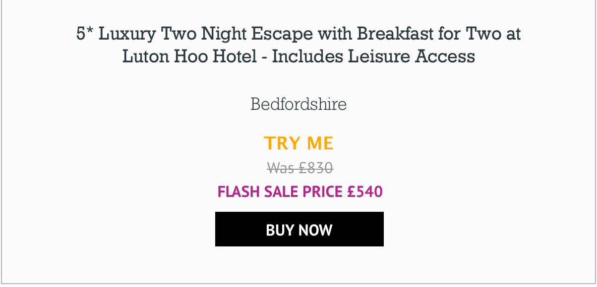 5* Luxury Two Night Escape with Breakfast for Two at Luton Hoo Hotel - Includes Leisure Access - £540