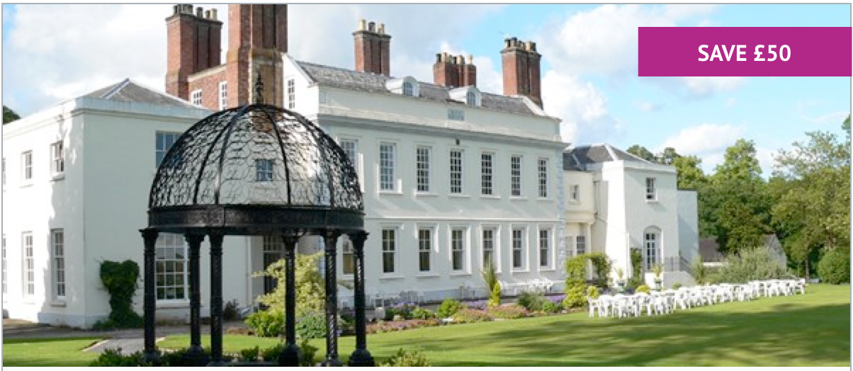 Overnight Spa Break with Breakfast & Dinner for Two at Haughton Hall - Includes Treatment each & Leisure Access - £149