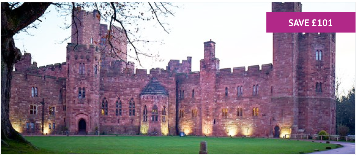 Two Night Escape with Breakfast for Two at Peckforton Castle - £259