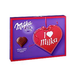 I love Milka Pralinés oder Hauchzarte Herzen