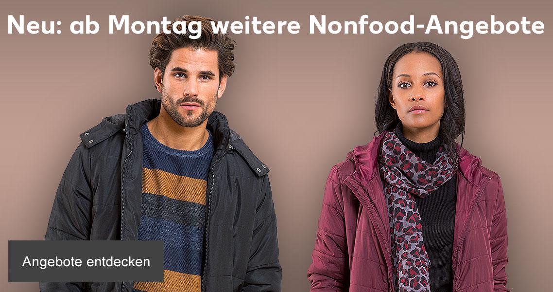 Neu: ab Montag weitere Nonfood-Angebote