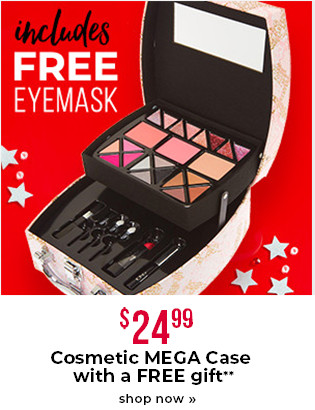 $24.99 Cosmetic MEGA Case with a FREE gift**